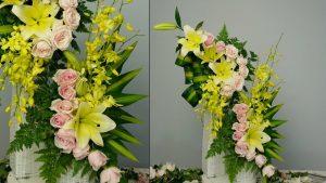Các kiểu cắm hoa lan đẹp